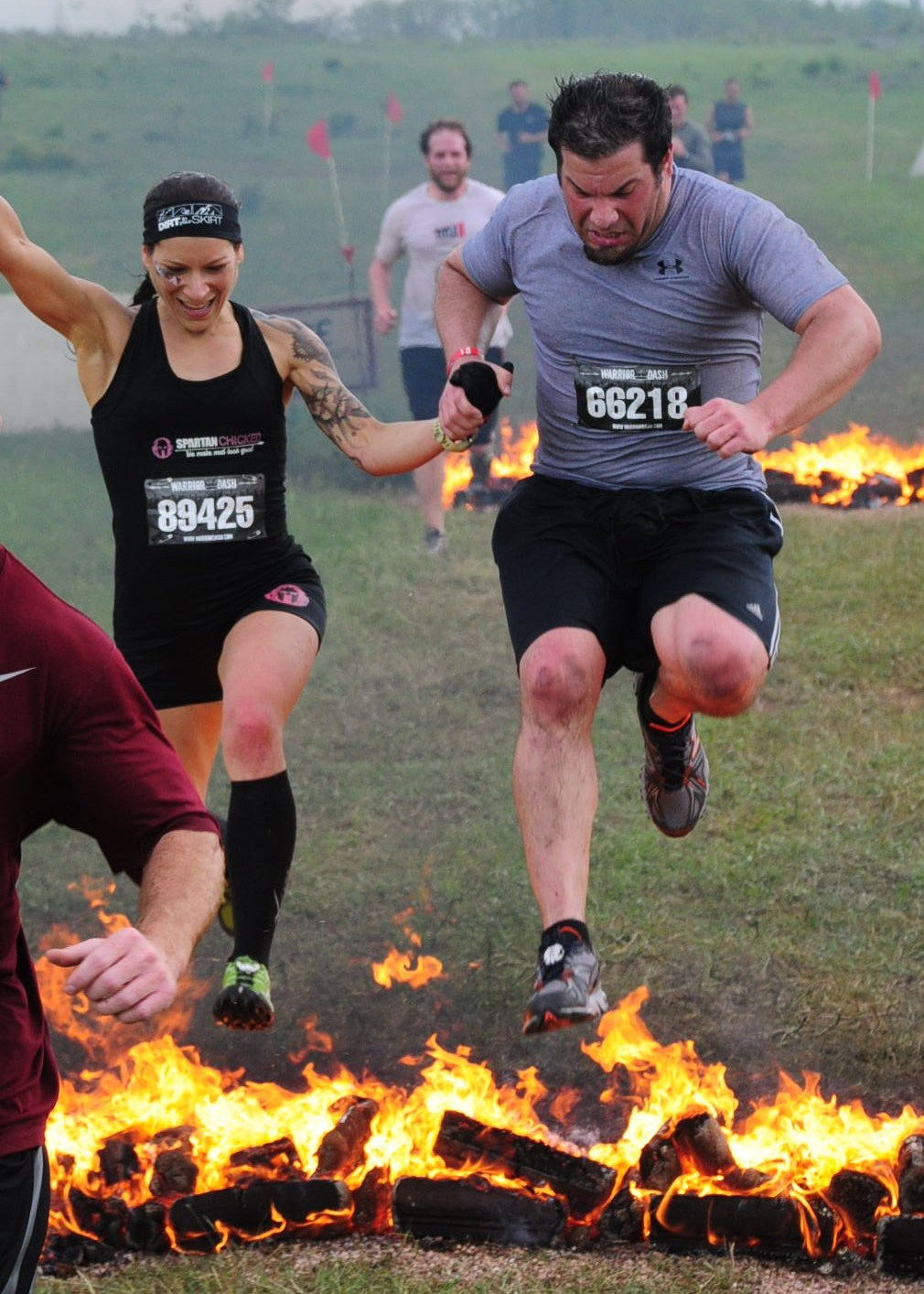Fire Jump Warrior Dash OK 2013