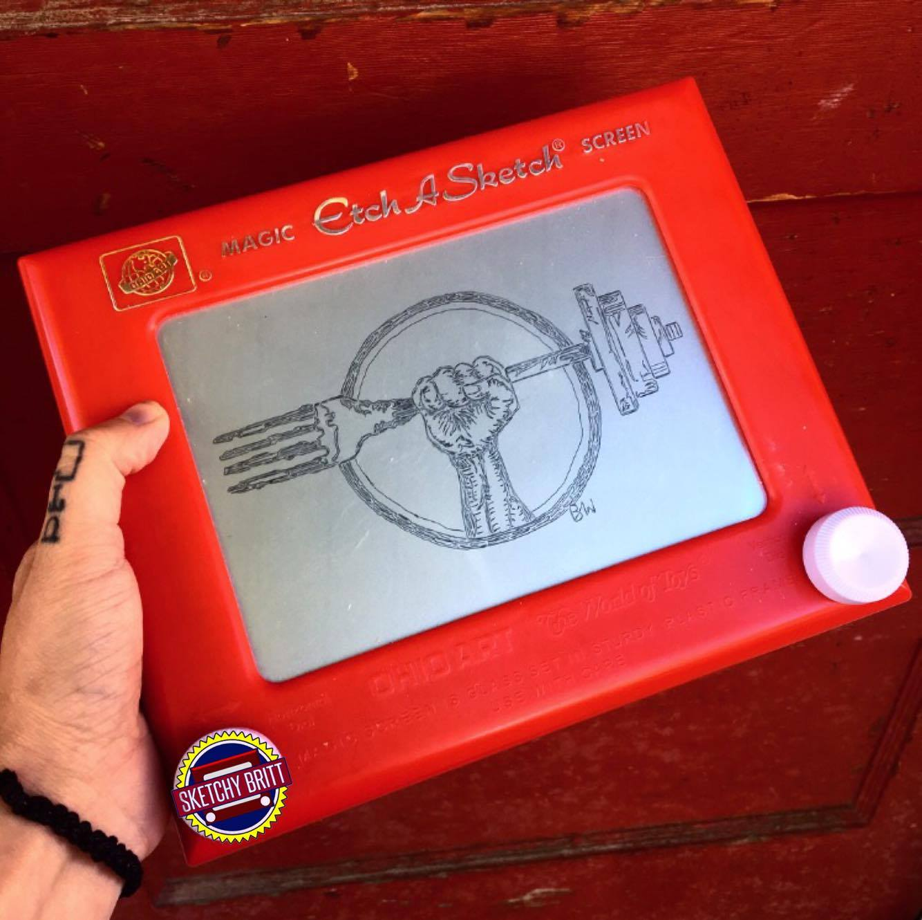 Dirt in Your Skirt Etch-a-sketch by Sketchy Britt